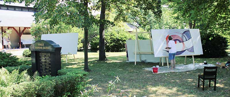Kunstsymposium auf dem Friedhof